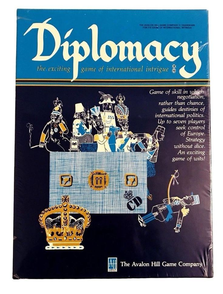 DIPLOMACY Board Game Of International Intrigue Avalon Hill 1976 Factory Sealed | Toys & Hobbies, Games, Board & Traditional Games | eBay!