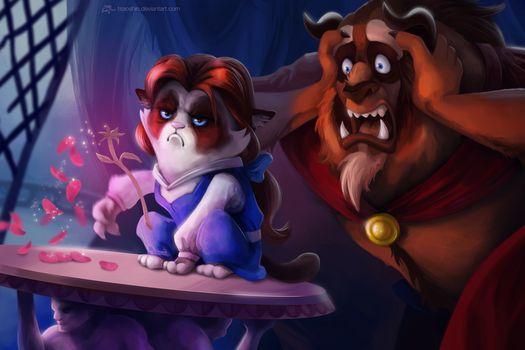 Belle as Grumpy Cat by tsaoshin at Deviantart