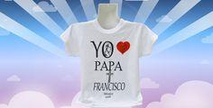 Papa Francisco I Playera Niño/Niña Blanca Cuello Redondo Visita Papal Mexico 2016 de KarynaIzelDesigns en Etsy