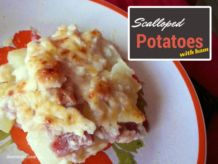 Pioneer Woman's Scalloped Potatoes with Ham #MerryMonday