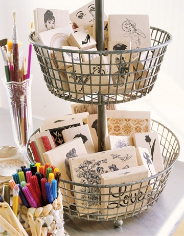 Article has several cute ideas for organizing a craft room
