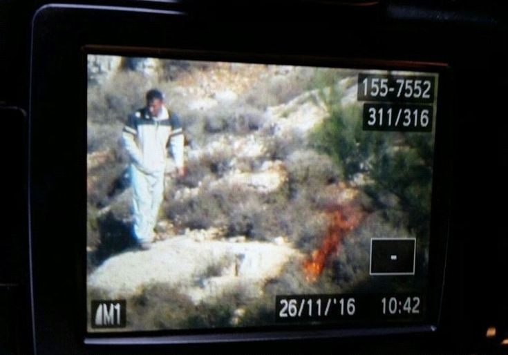 VIDEO Captures Palestinian Terrorist Starting Fires in Israel  Jim Hoft Nov 26th, 2016