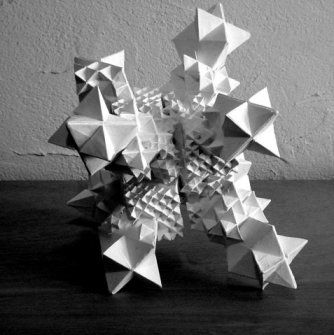 Folding the circle - Stellated octahedron fractal