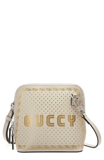 c5267bcb9f3 You can buy bargian Gucci Guccy Logo Moon   Stars Leather Crossbody ...