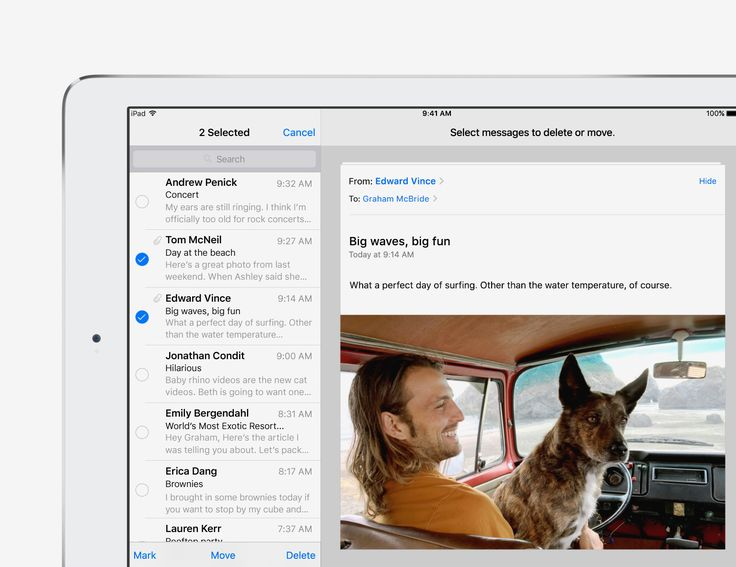 Manage your inbox faster - iOS 9 Tips and Tricks for iPad - Apple Support