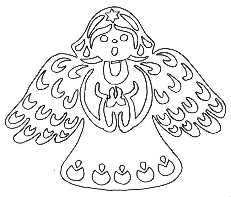 Šablona na vystřižení - Andělíček