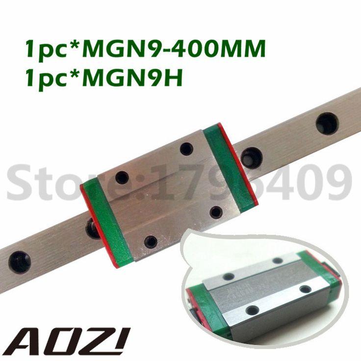 NEW <b>9mm</b> Miniature <b>Linear Guide</b> MGN9 L 400mm <b>Rail</b> + MGN9H ...