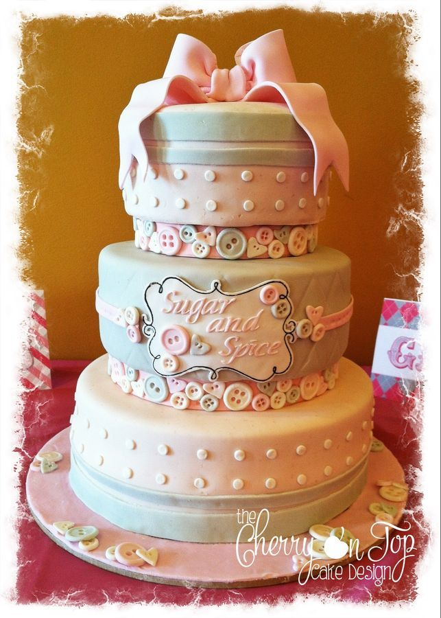 Sugar and Spice Baby Shower Cake