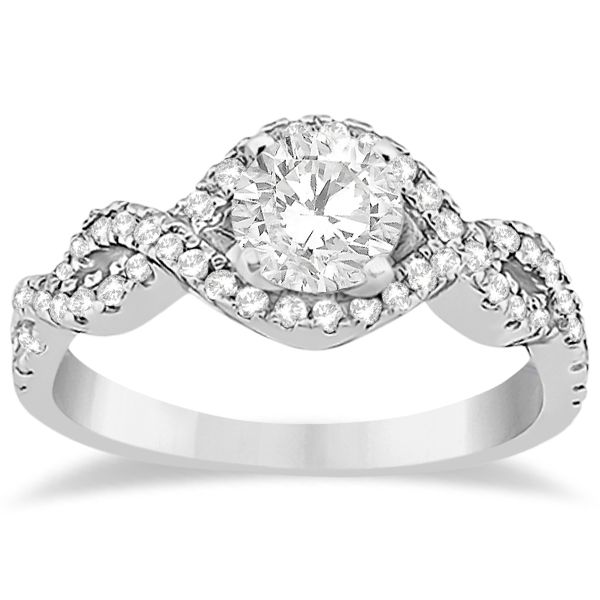 diamond halo infinity engagement ring wedding pinterest. Black Bedroom Furniture Sets. Home Design Ideas