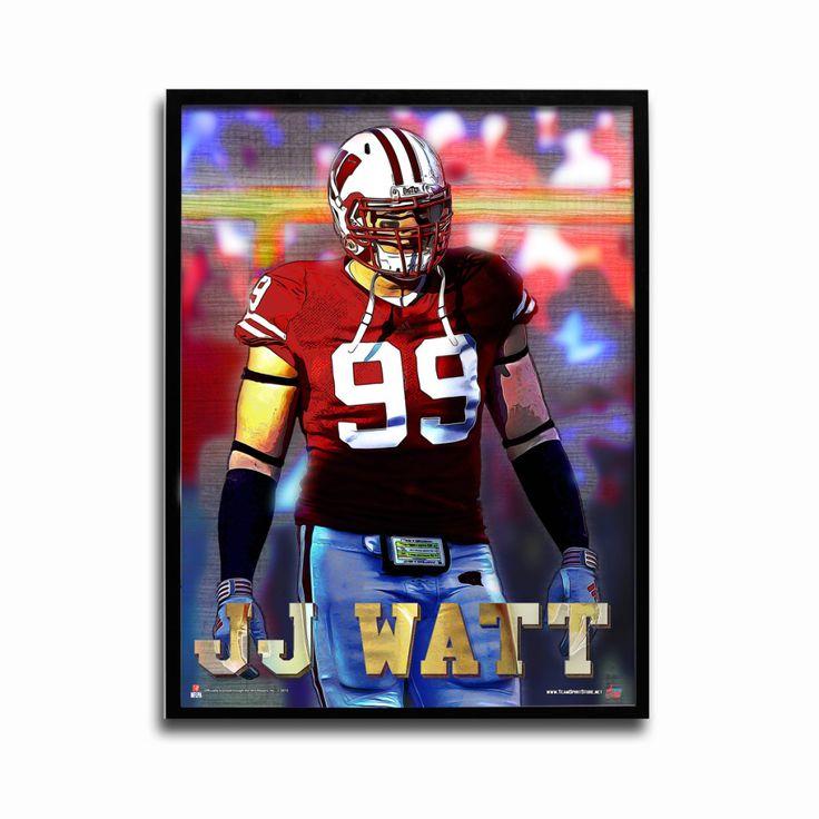 Wisconsin Badgers JJ Watt Sack Attack 24x18 Football Poster