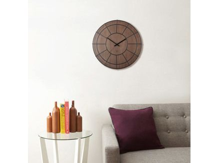 Необычные настенные коричневые деревянные часы-клетка в ретро стиле