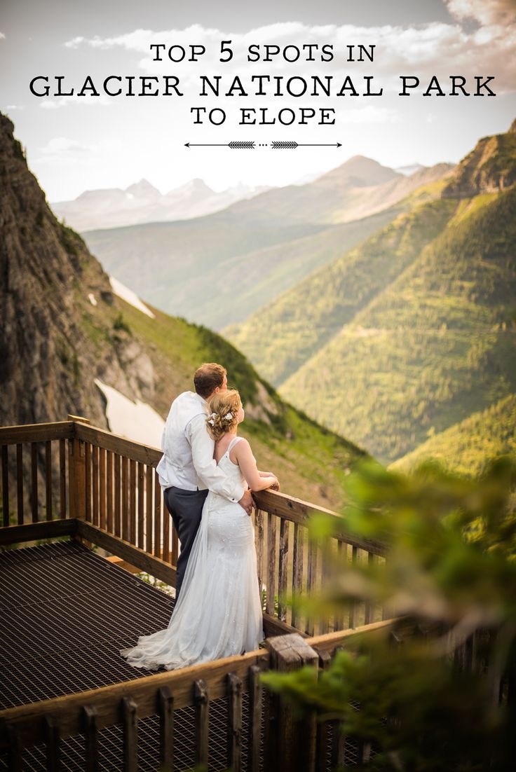 Top 5 Spots in Glacier National Park to Elope www.mariannewiest.com  Want an absolutely stunning Montana wedding?! Check out this link for my most amazing spots in Glacier National Park for photos.