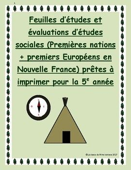 Here is my set of Social Studies tests, study sheets and answer keys for the Grade 5 French Immersion Social Studies unit on: Premieres nations et premiers Europens en Nouvelle France. These tests and study sheets are ready to print and hand out. They provide an excellent study guide, given that most schools do not have a designated Social Studies textbook for this unit.