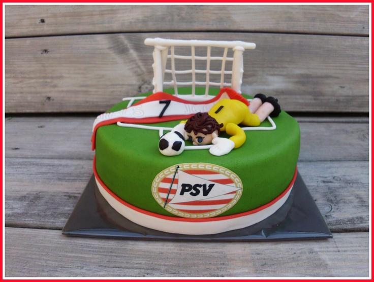 Psv taart met keeper voor Niels