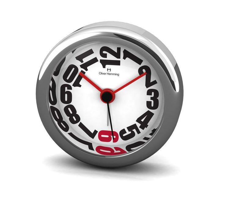 Desire 5.8cm Chrome Metal Alarm Clock