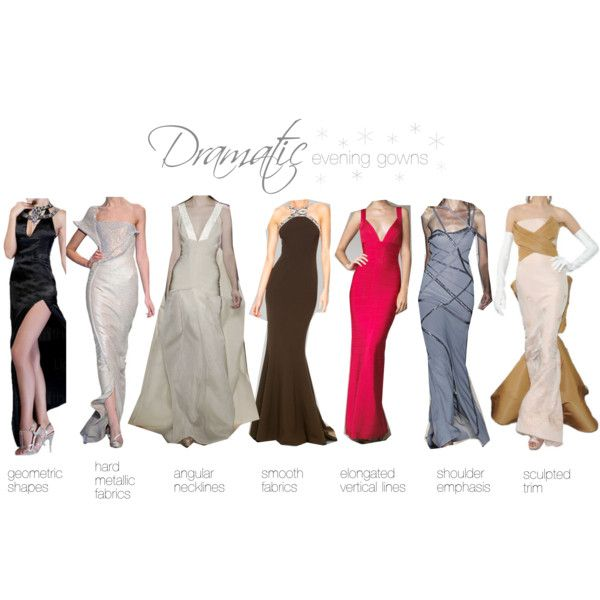Dramatic evening gowns
