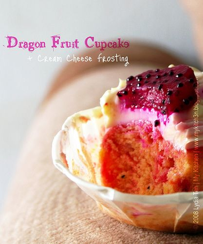 My Kitchen: Dragon Fruit Cupcake