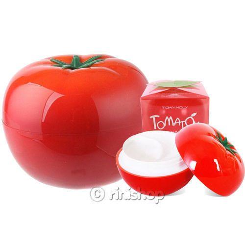 Tomatox Magic White Massage Cream Pack 80ml.  TONY MOLY. Poderosa mascarilla aclarante de uso nocturno, a base de tomate, se aplica sobre la cara muy limpia, se deja actuar por 15 minutos y se enjuaga con agua tibia. Recomendado aplicarlo 1 o 2 veces por semana, para todo tipo de piel.