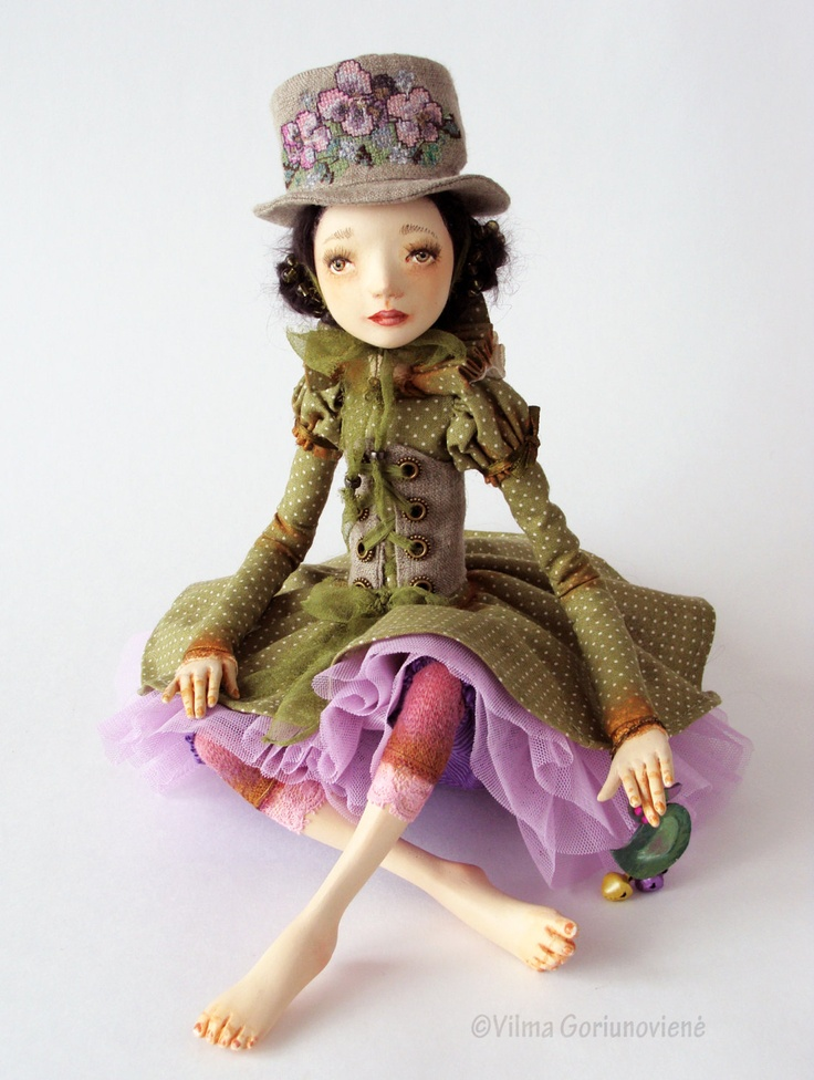 OOAK Art doll Viola. €208.00, via Etsy.