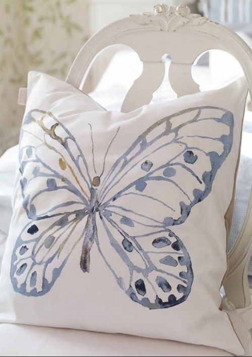 Butterfly pillow for bedroom  Behind the bed