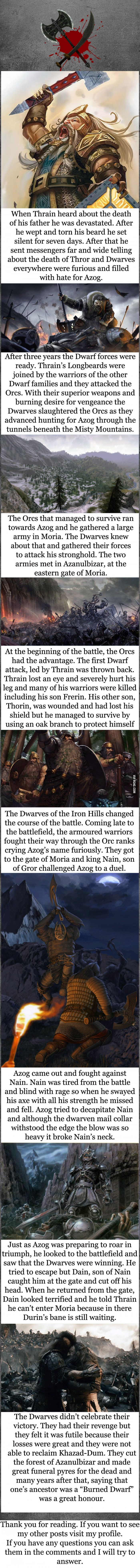 Tolkien lore - Battle of Azanulbizar