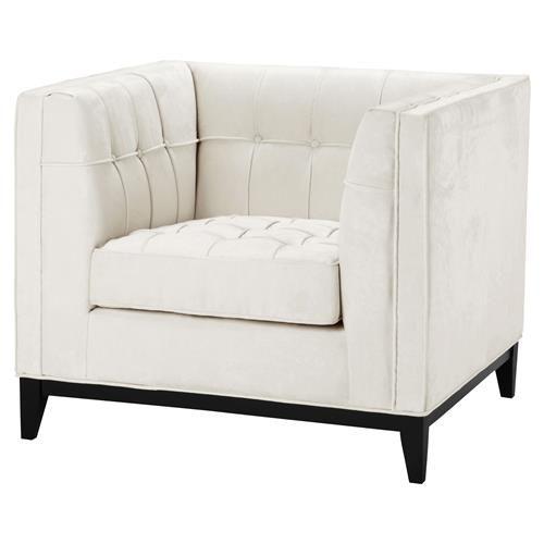 Eichholtz Aldgate Modern Classic Ecru Velvet Modular Lounge Chair   Kathy Kuo Home