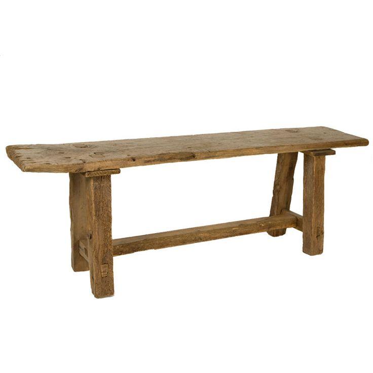 Antique Rustic Taverna Table | 1stdibs.com