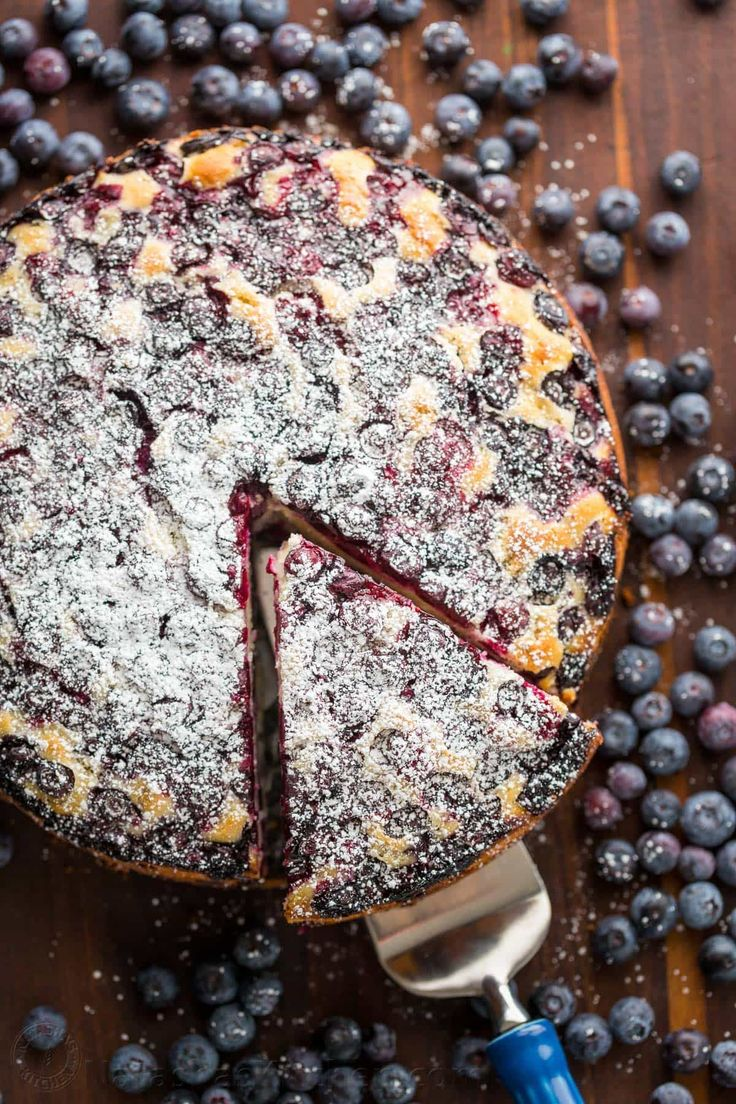 Blueberry Lemon Cake is so moist and soft. Every bite of this blueberry cake is bursting with juicy blueberry flavor. An easy, excellent tea or coffee cake!