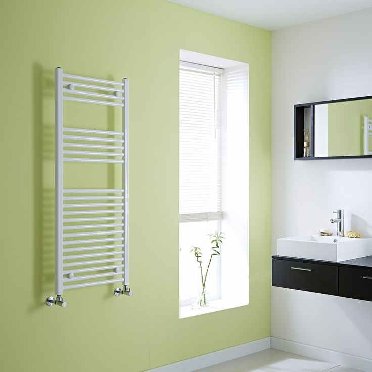 Milano Calder  - Flat White Heated Towel Rail 1200mm x 500mm £50