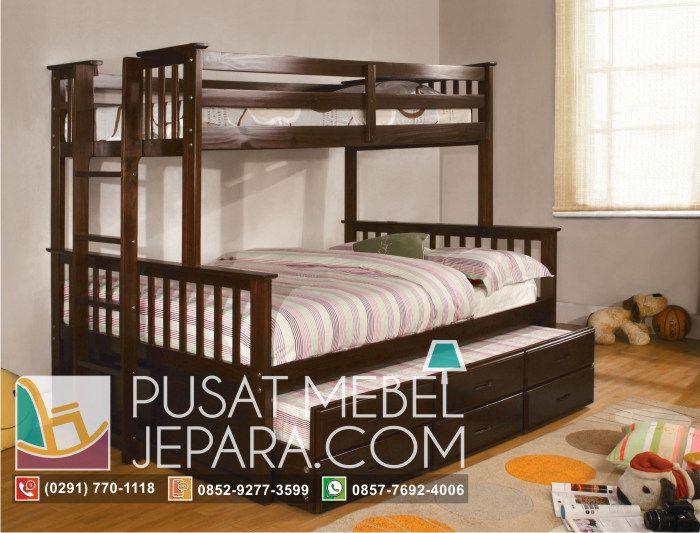 tempat-tidur-anak-tingkat-dan-laci-3in1