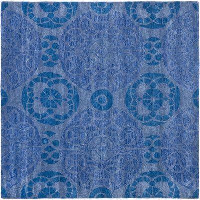 "Safavieh Wyndham Blue Area Rug Rug Size: Square 8'9"""