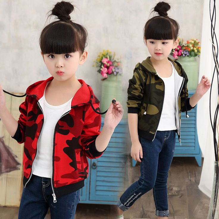 >> Click to Buy << Spring and Autumn girls casual jacket short paragraph cardigan jacket camouflage jacket small children wear baby tracksuit #Affiliate