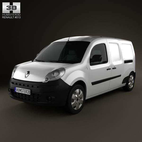 Renault Kangoo Maxi 2011 3d model from humster3d.com. Price: $75
