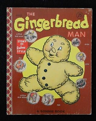"""1954 Bonnie Rebus Book """"The Gingerbread Man"""""""