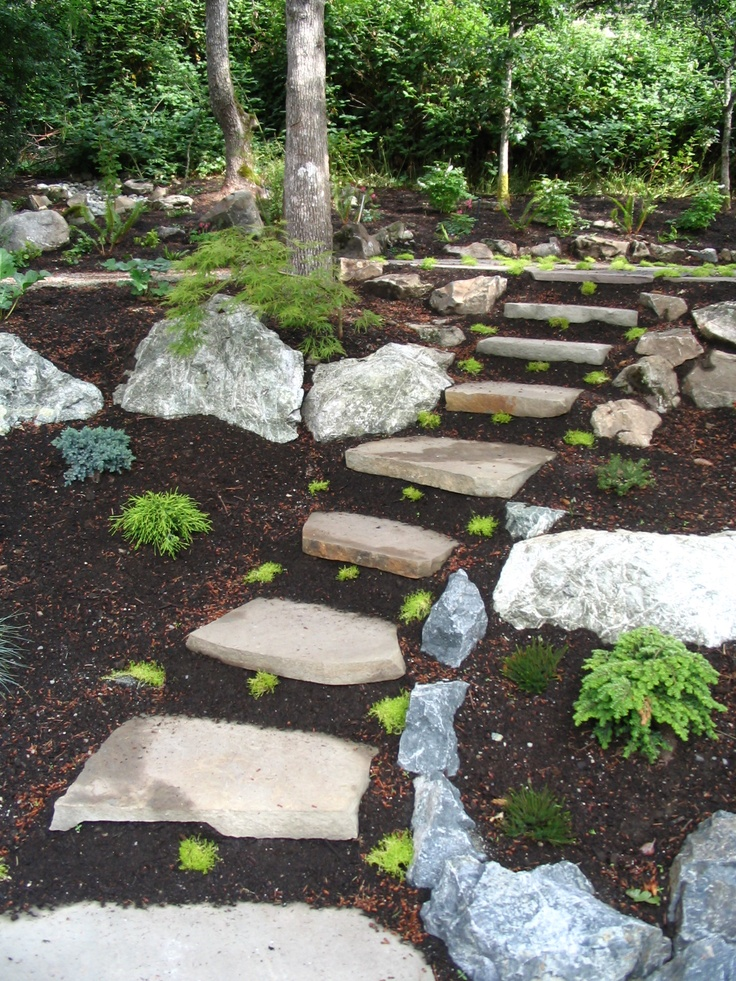 10 best slope plantings images on pinterest | landscaping, gardens ... - Rock Garden Patio Ideas