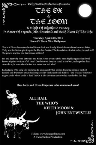Members of Metallica, Kiss, Van Halen and more set to pay tribute to The Who's John Entwistle and Keith Moon