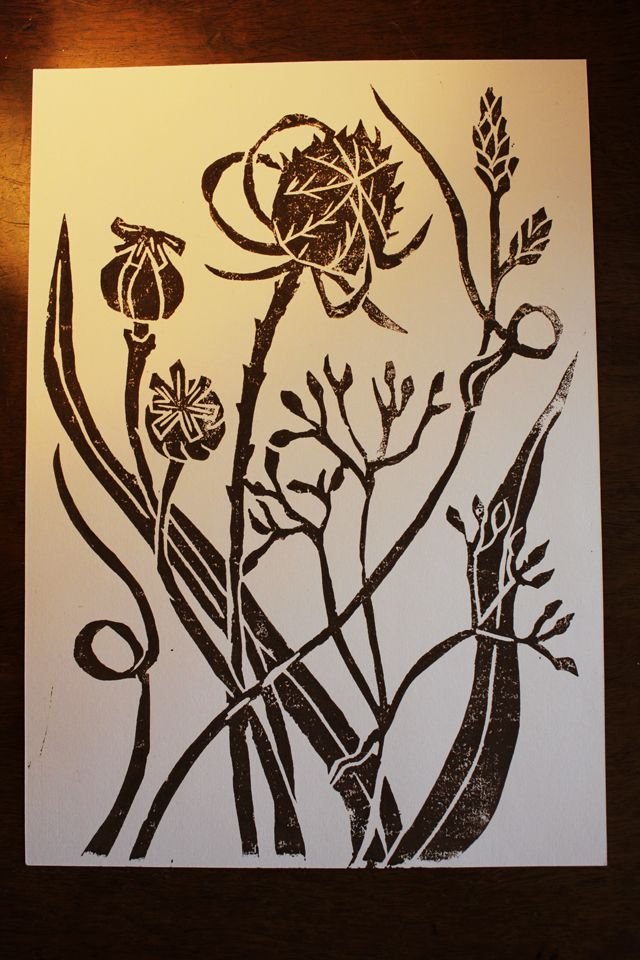 The talented Veronica Roth's Blog - A Beautiful Lino Cut
