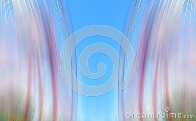 Blue colored background with red and green motion lines