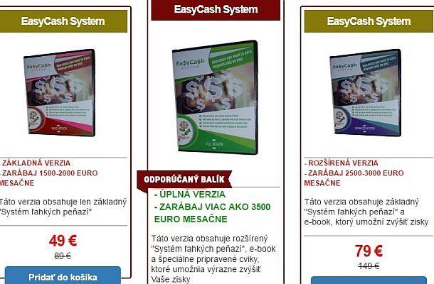 Easy Cash System recenze systému Pavla Tůmy a a Systému ľahkých peňazí od Tomáš Mikluše. Jsou to podvody a podvodníci, pozor na ně!