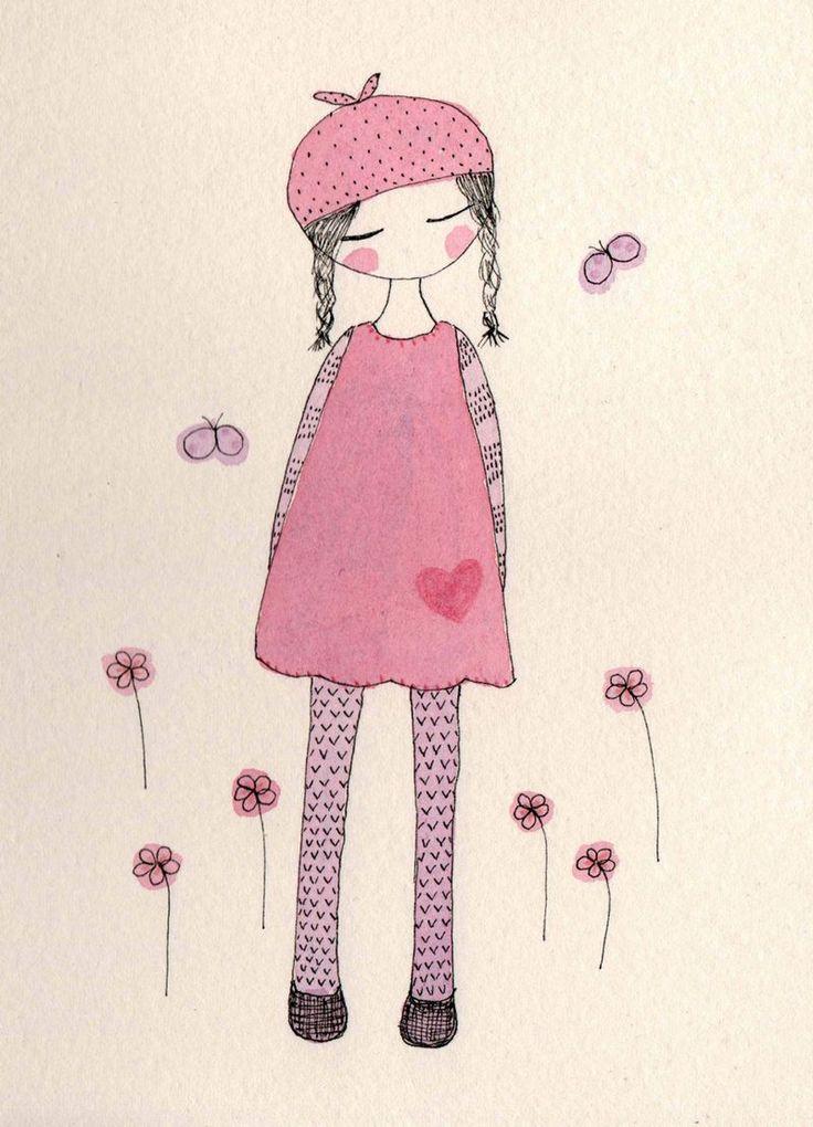 Postcard pink cleaner