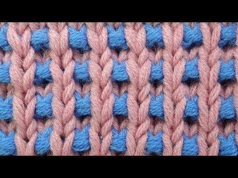 Эффектный узор вязания спицами урок25 - YouTube