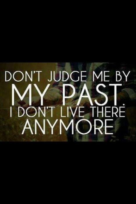 Don't judge me by my ...