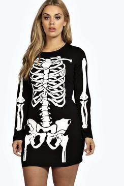 Gracie Skeleton Bodycon Dress