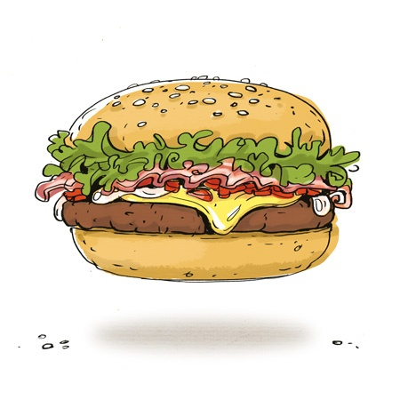 Cartoon Cooking: Mi ♥ hamburguesa
