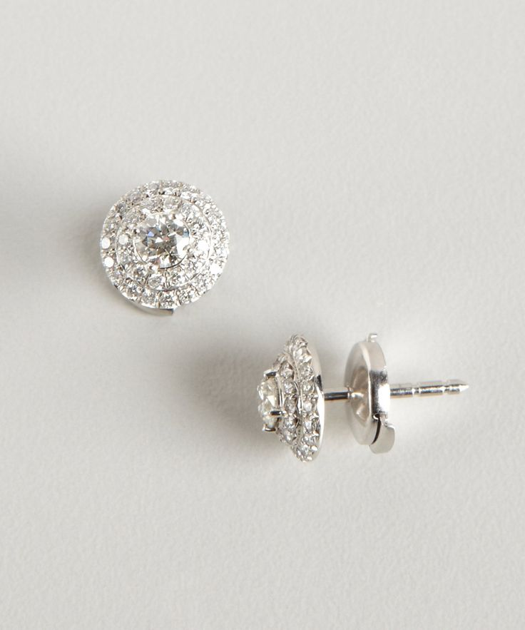 Tiffany & Co. Tiffany & Co diamond and platinum 'Soleste' stud earrings | BLUEFLY