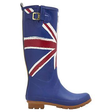 Women's Joules® Rain Boots - Blue Union Jack