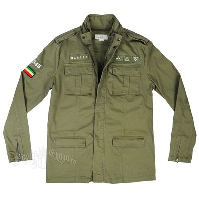 Marley Olive Green Military Jacket - Men's
