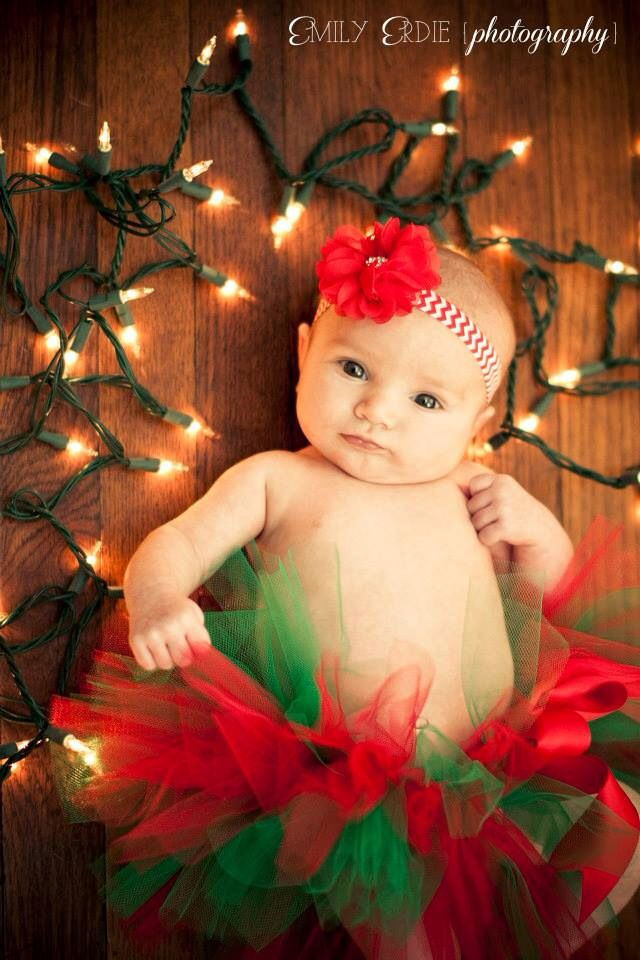 My little Lily's Newborn Christmas photo! Taken by me! (8 weeks old)