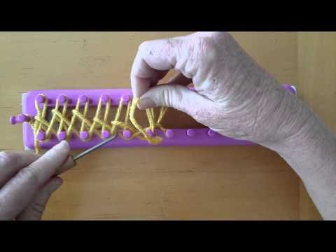 Modified tightened cast on for loom knit stockinette - YouTube