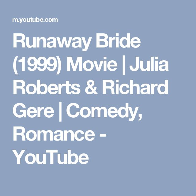Runaway Bride (1999) Movie | Julia Roberts & Richard Gere | Comedy, Romance - YouTube